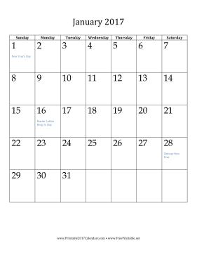 2017 Yearly Calendar - CalendarDate.com
