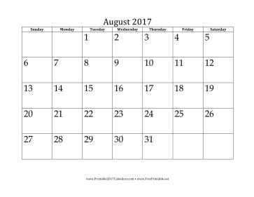 printable august 2017 calendar08 2017 #2