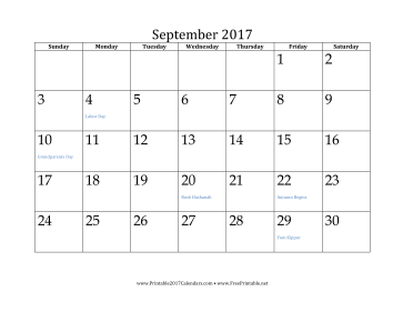 printable september 2017 calendar