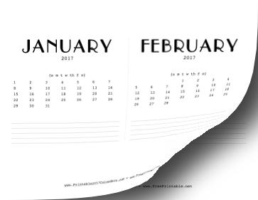 printable 2017 cd case calendar. Black Bedroom Furniture Sets. Home Design Ideas