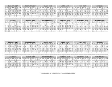 Printable 2017 Computer Monitor Calendar